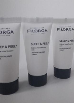 Ночной обновляющий крем filorga sleep&peel 15 ml