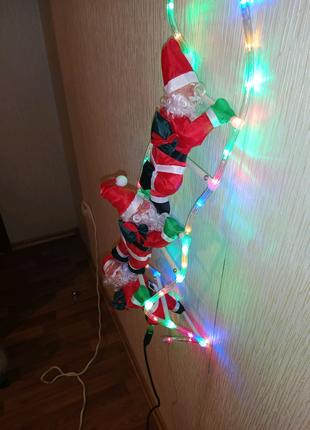 Дед Мороз (санта) декоративная гирлянда LED