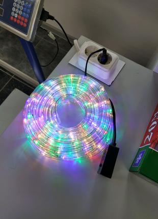LED Бухта Дюралайт 20 метров (темлый, синий, мультицвет)