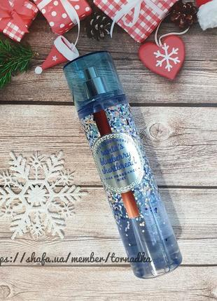Мист для тела bath and body works - santa's blueberry shortbread