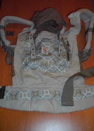 Эрго-рюкзак ERGO Baby Organic Lattice-Taupe