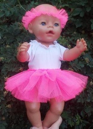 Одежда для Беби Борн, Baby Born юбка-пачка и веночек