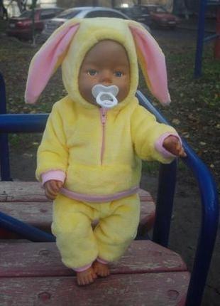 Продам одежда для бэби борн , Baby Born Зайка теплый костюмчик