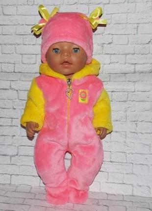 Одежда для кукол Беби Борн, Baby Born комбинезончик и шапочка