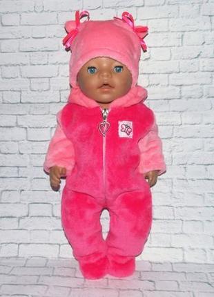 Одежда для кукол Беби Борн, Baby Born, комбинезон и шапочка