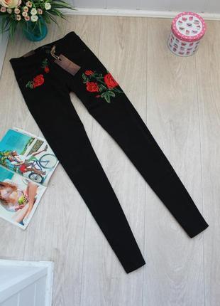 Черные джинсы с вышивкой ххс(25) турция