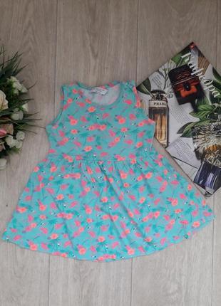 Платье в фламинго 2-3 года primark