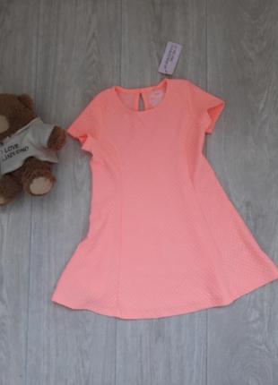 Новое яркое коралловое платье 2-3 года young dimension
