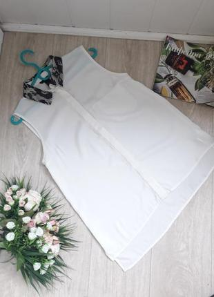 Белая рубашка с кружевом на воротнике  h&m