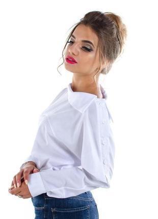 Мега модная рубашка с завязками на рукавах размер л daiman