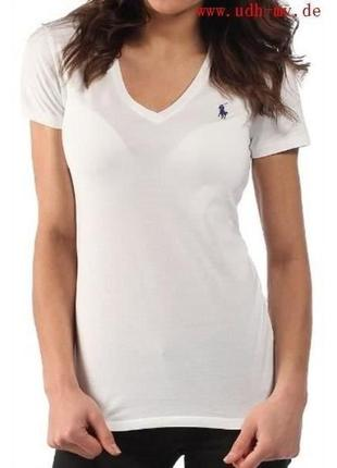 Белая  футболка размер с ralph lauren оригинал