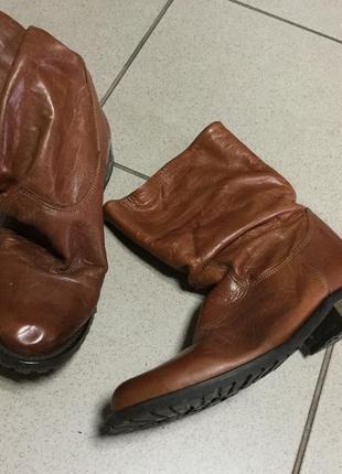 Ботинки сапожки кожа 38