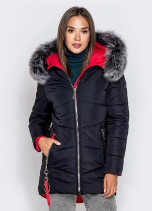 Зимняя женская куртка/пуховик в черном цвете /осень/зима/весна😍