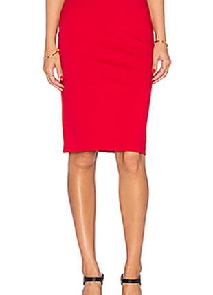 Красная шерстяная юбка карандаш gibierre donna размер 48 италия