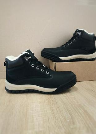 Натуральная кожа ботинки мужские черные зимние теплые высокие ...