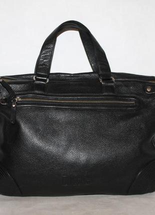 Большая кожаная сумка с отсеком для ноутбука,а4 100% натуральн...