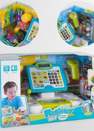 Детский кассовый аппарат с корзинкой для продуктов, сканером, ...
