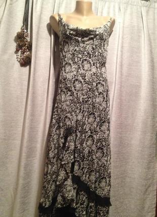 Оригинальное шифоновое платье сарафан.020