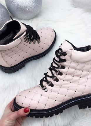 Sale! зимние кожаные стеганые ботинки в стиле balm@in. 36 37 3...