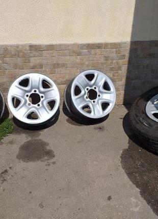 Продам железные диски Toyota + шины Michelin R18 б/у