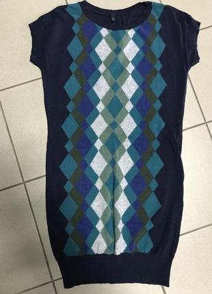 Платье фирменное туника шерсть benetton