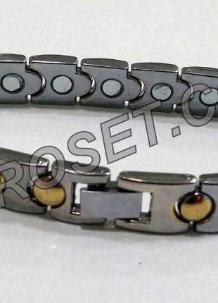 Женский металлический магнитно-акупунктурный браслет.