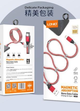 Магнитный зарядный кабель LDNIO LS-491 Lighting Magnetic