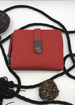 Красный женский кошелёк canevo