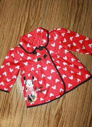 Модный плащик на девочку 6-9 месяцев