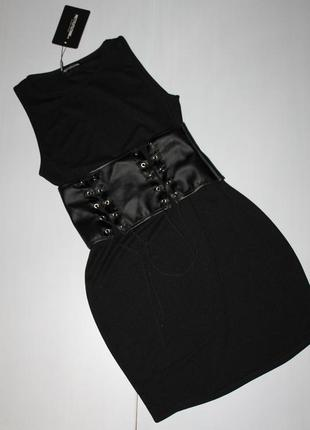 Новое платье с корсетом  размер 10
