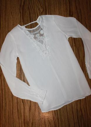 Нежная белая блузка размер 6