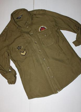 Рубашка с нашивками размер хс