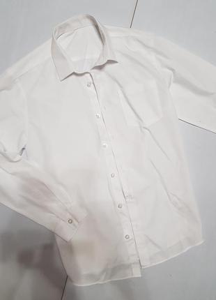 Белая рубашка на мальчика 12 лет