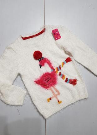 Новый свитер на девочку 5-6 лет