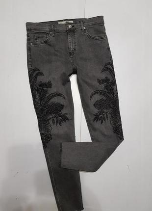 Крутые укороченные джинсы размер 28