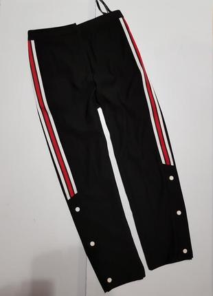 Крутые брюки с лампасами  ,на кнопках