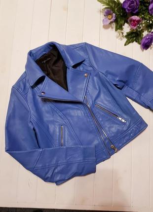 Крутая кожаная куртка размер 12