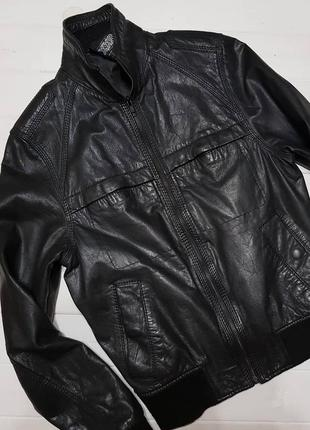 Кожаная куртка мужская,  на подростка