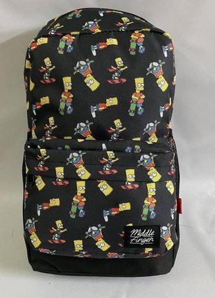 Рюкзак большой школьный спортивный bart simpson