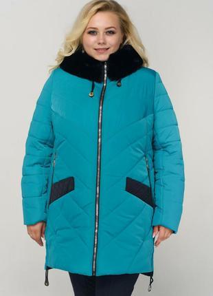 Зимняя куртка «Эля» большого размера с 52 по 64