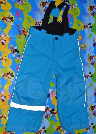 Зимний термо полукомбинезон штаны h&m 98см на мальчика. 2-3года