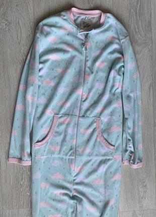 Флисовая тёплая пижама кигуруми love to lounge