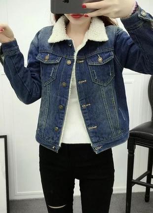 Утепленная джинсовая куртка denim co