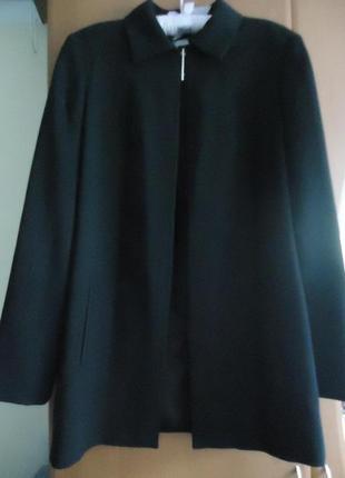 Стильная шерстяная накидка пиджак блейзер