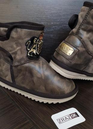 Sale угги коричневые зимние ботинки снегоходы дутики