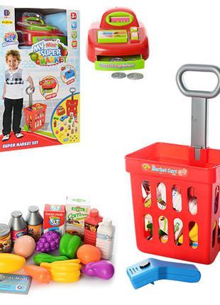 """Детский игровой набор с кассовым аппаратом и тележкой """"Магазин..."""