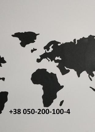Карта мира БОЛЬШАЯ с мелками в комплекте.