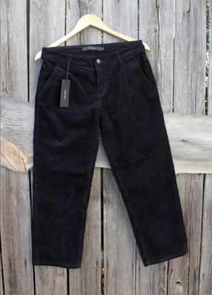 Тренд вельветовые укорочённые брюки кюлоты вельвет