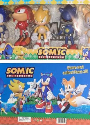 Super Sonic (Somic), набор героев 5 шт