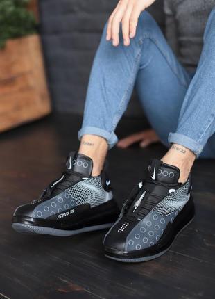 Мужские стильные кроссовки nike grey black, найк осень/весна ч...